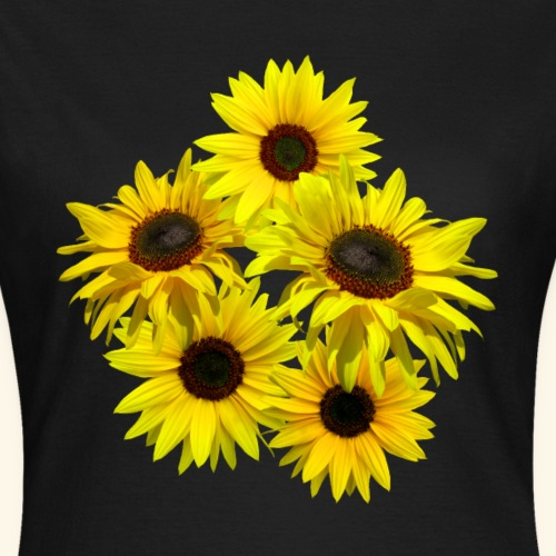 Sonnenblumenstrauss, Sonnenblume, Sonnenblumen - Frauen T-Shirt