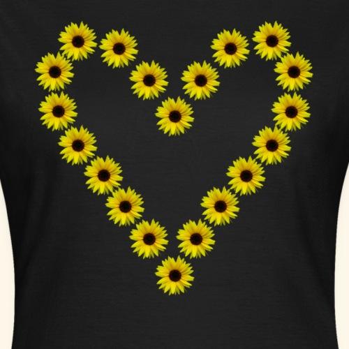Sonnenblumenherz, Sonnenblumen, Sonnenblume, Herz - Frauen T-Shirt
