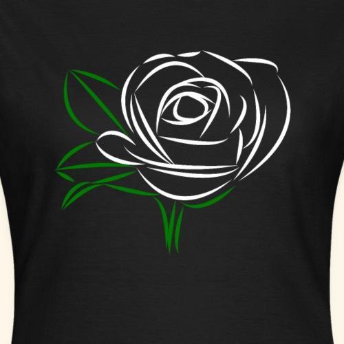Rose weiß, Rosen, Blumen, Blume, Blüten, floral - Frauen T-Shirt