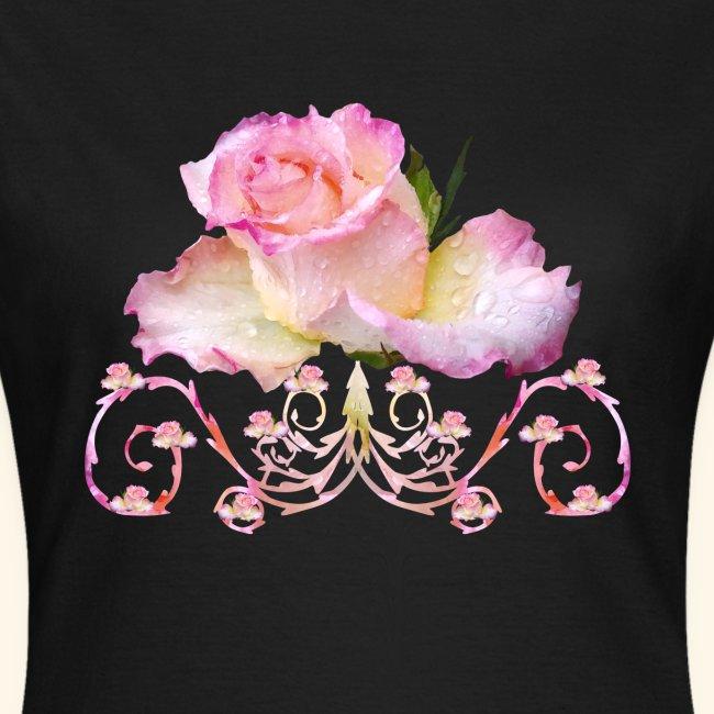 Rose pink, Ornament, Rosen, Blumen, Blüten, floral