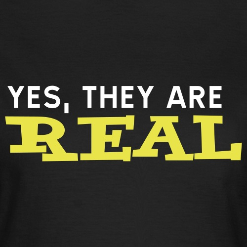 un at 002 yes they are real - T-shirt dam