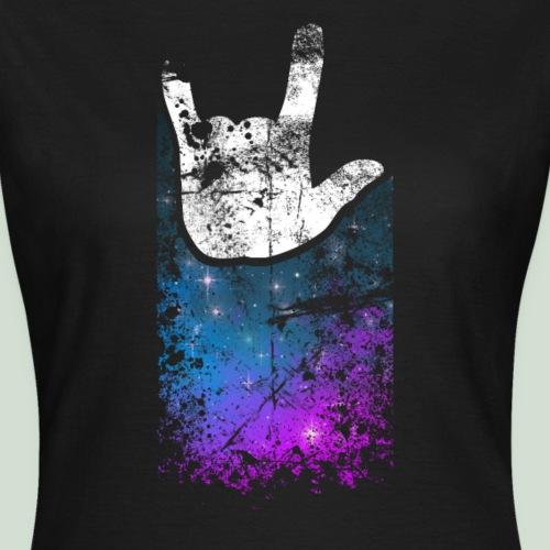 ILY Handsign Galaxy - Frauen T-Shirt