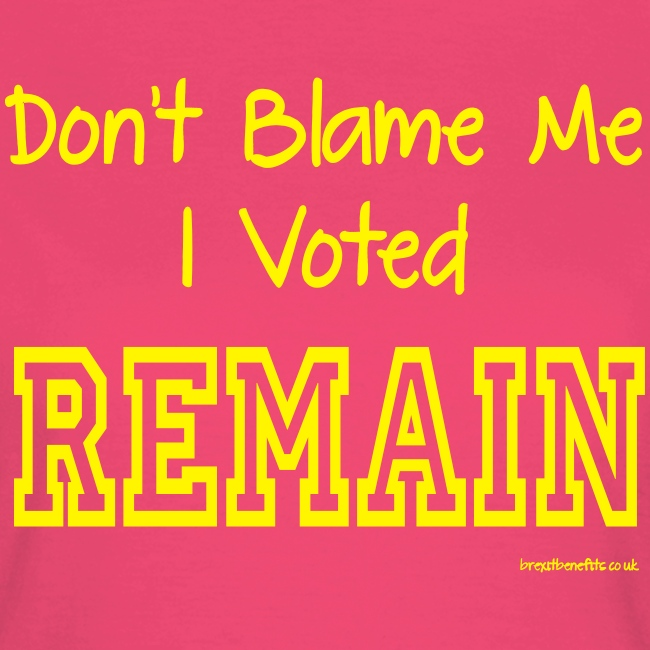Dont Blame Me