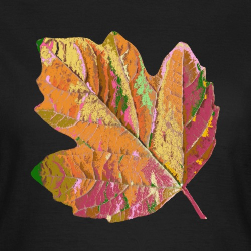 zauberhaftes Blatt, Herbst, Baum, bunt, Jahreszeit - Frauen T-Shirt