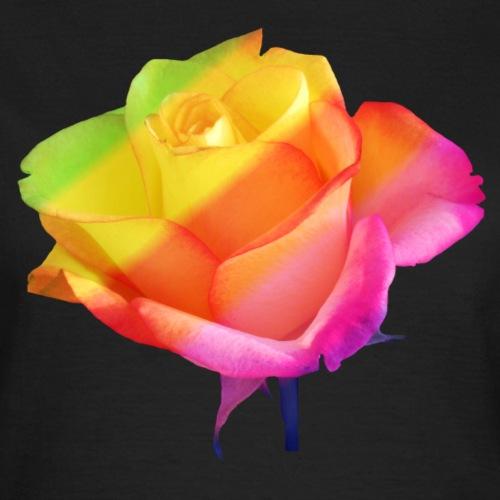 zauberhafte bunte Rose, Blume, Blüte, Regenbogen - Frauen T-Shirt