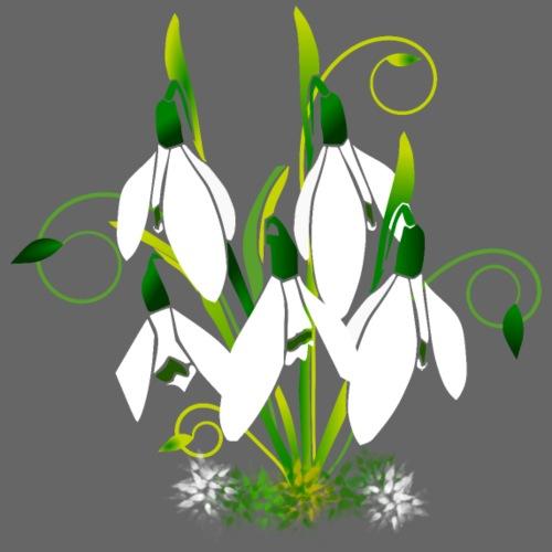 Schneeglöckchen, Blumen, Blüten, floral, Ornamente - Frauen T-Shirt