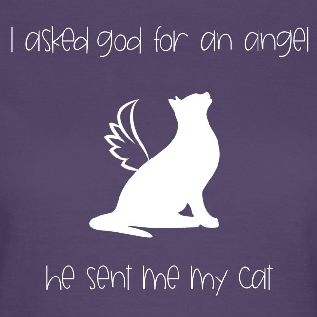 i asked god for an angel, he sent me my cat