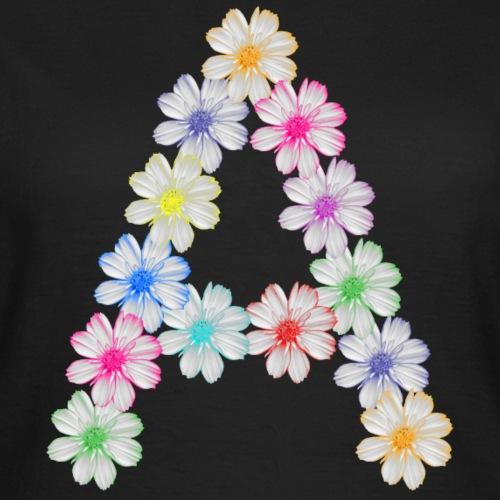 Buchstabe A aus Blumen, floral, Kosmee Blüten - Frauen T-Shirt