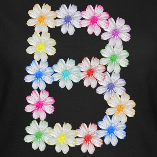 Buchstabe B aus Blumen, floral, Kosmee Blüten - Frauen T-Shirt