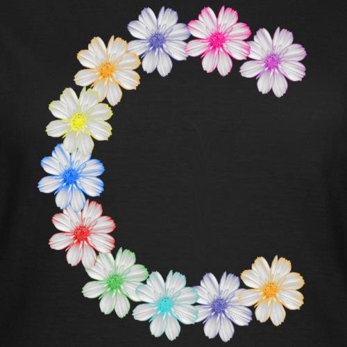 Buchstabe C aus Blumen, floral, Kosmee Blüten - Frauen T-Shirt