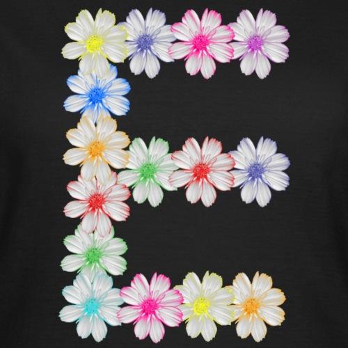 Buchstabe E aus Blumen, floral, Kosmee Blüten - Frauen T-Shirt