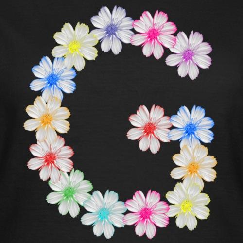 Buchstabe G aus Blumen, floral, Kosmee Blüten - Frauen T-Shirt
