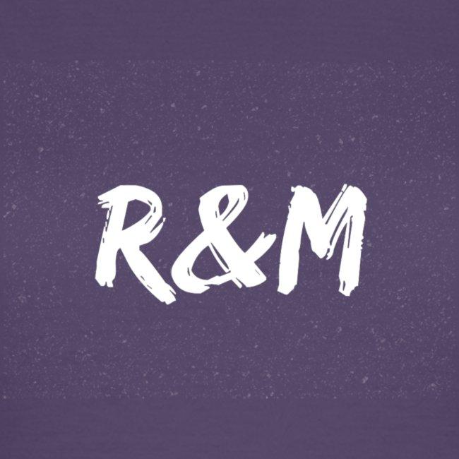 R&M Large Logo tshirt black