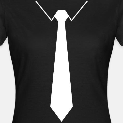 Skjorte med hvitt slips