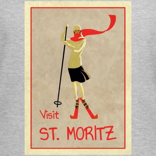 Vintage Retro Reise Plakat St Moritz