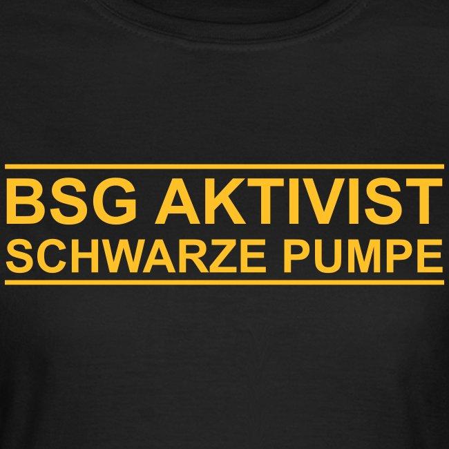 BSG Aktivist Schwarze Pumpe - Retro-Schriftzug