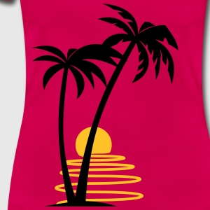 Palm trees with sun allround designs - Women's T-Shirt