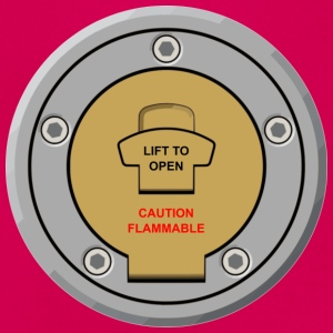 "Motorcycle Fuel Cap Design ""Lift to Open"" - Women's T-Shirt"