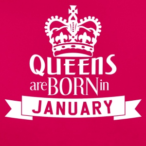 QUEENS BORN januar - Dame-T-shirt