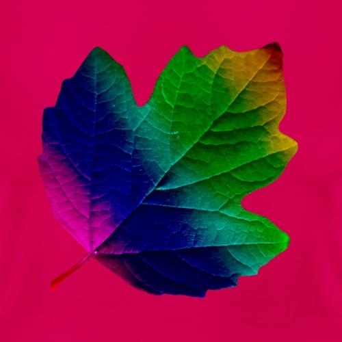 tolles buntes Blatt, Laub, Herbst, Regenbogen - Frauen T-Shirt