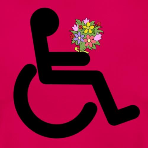 Rolstoel gebruiker met bloemen - Vrouwen T-shirt