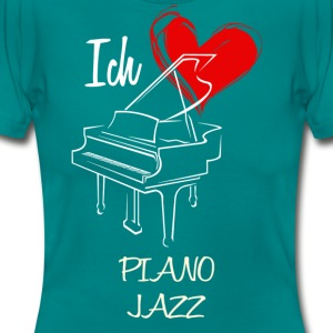 Kärlek Piano Jazz - T-shirt dam