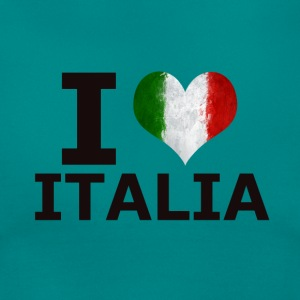 I LOVE ITALIA FLAG - Frauen T-Shirt