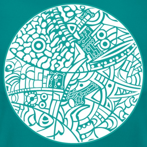 GlobeDesign-Green&W - Dame-T-shirt