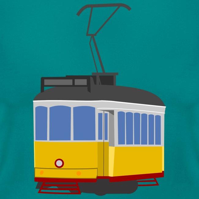 Tram car yellow