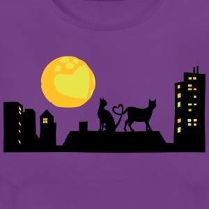Cats in love at night - Women's T-Shirt