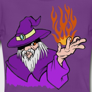 Willpower Wizard Purple/Red/Orange Flame - No Text - Vrouwen T-shirt