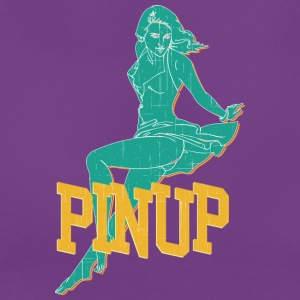 laying pinup sexy girl vintage - Women's T-Shirt