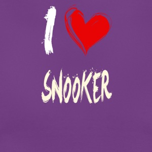 I Love Snooker - Dame-T-shirt