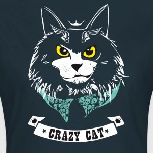 cat crazy cat skull grim bad hipster - Women's T-Shirt