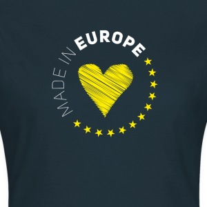 made in Europe love EU europe no Proposed referendum on United Kingdom membership of the European Union Euro star - Women's T-Shirt