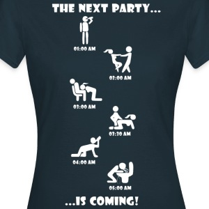 The Next Party is coming. - Women's T-Shirt