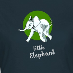 little_elefant baby cute mascotte vriend ju - Vrouwen T-shirt
