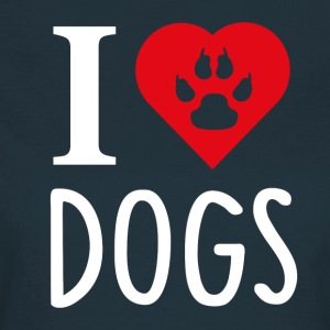 ++ I LOVE DOGS ++ - Vrouwen T-shirt
