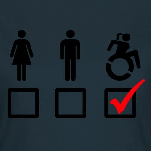 Rolstoel bord, rollers fun, vink rolstoel, humor - Vrouwen T-shirt