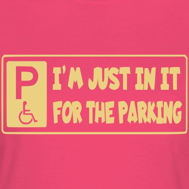 Ik zit in mijn rolstoel voor mooie parkeerplaatsen
