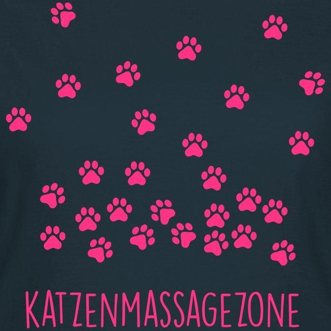 Vorschau: Katzen Massage Zone - Frauen T-Shirt