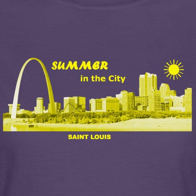 Summer Saint Louis Missouri skyline USA