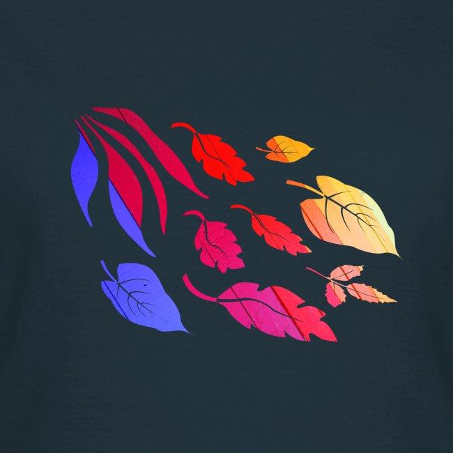 Natur Blätter Regenbogen