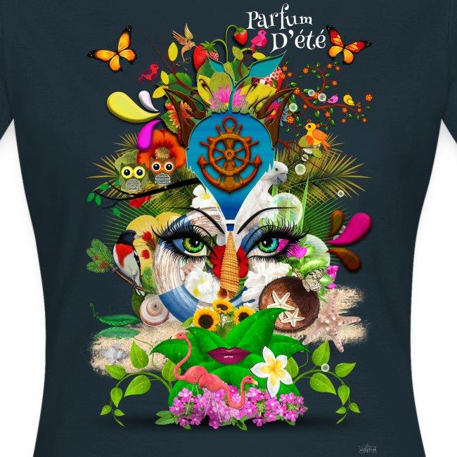 Parfum d'été by T-shirt chic et choc (tissu foncé)