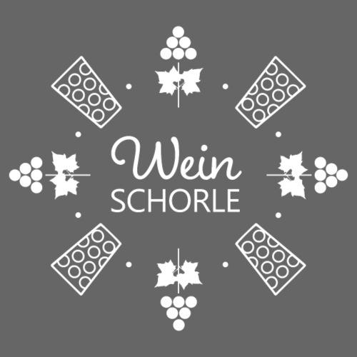 Weinschorle - Trauben - Dubbegläser - Rebenblätter - Frauen T-Shirt