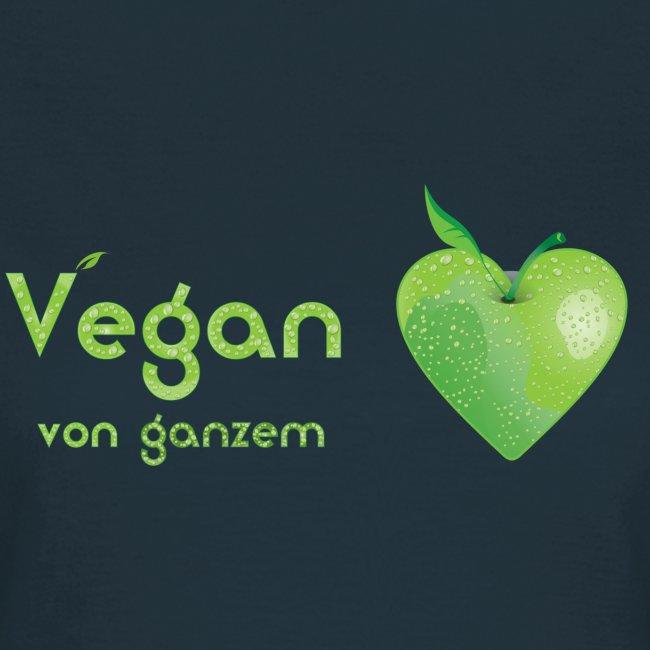 Vegan von ganzem Herzen (grün)