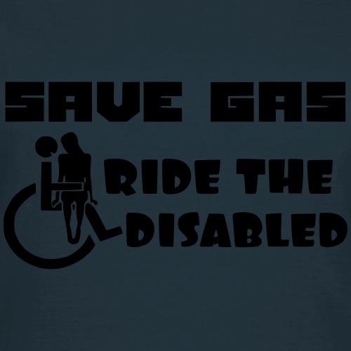 Bespaar brandstof rij mee met gehandicapten 001 - Vrouwen T-shirt