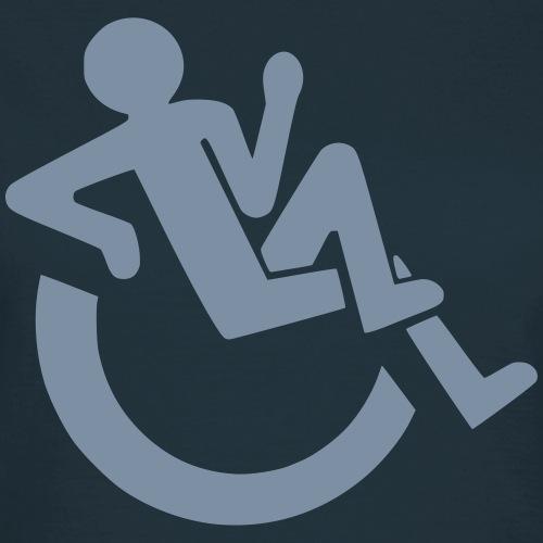 Relaxte rolstoel gebruiker, roller, gehandicapte - Vrouwen T-shirt