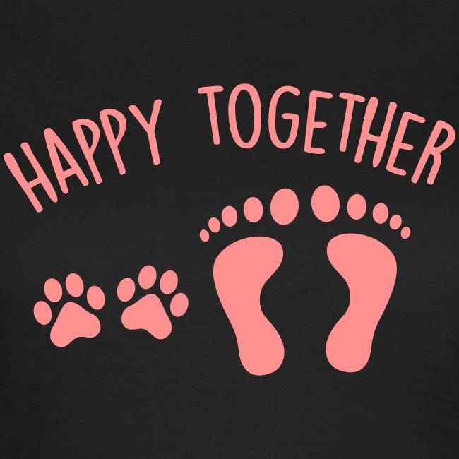 Vorschau: happy together dog - Frauen T-Shirt