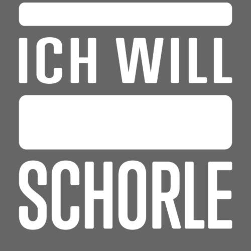Ich will Schorle weiß - Frauen T-Shirt